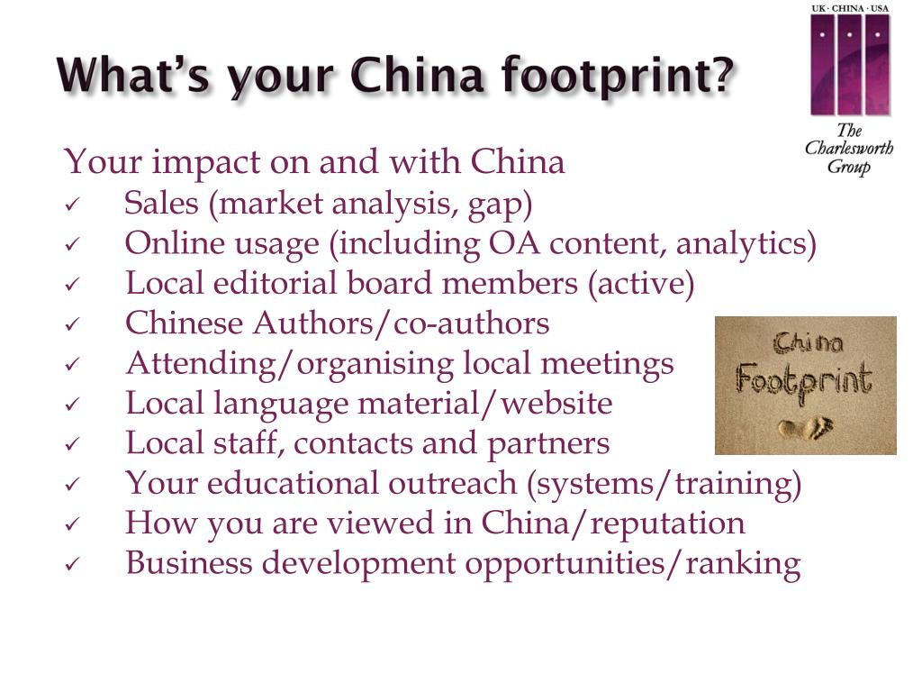 What's your China footprint?