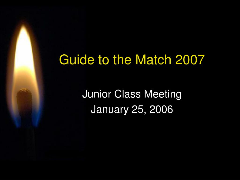 guide to the match 2007 l.