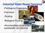 industrial water reuse concerns