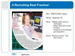 a recruiting best practice