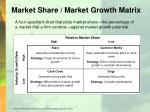 market share market growth matrix
