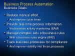 business process automation business goals