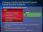 categorizing biztalk based projects typical business problems