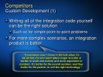 competitors custom development 1