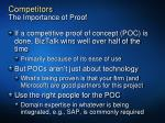 competitors the importance of proof