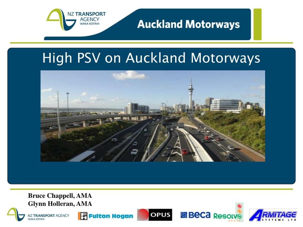 high psv on auckland motorways l.