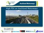 high psv on auckland motorways