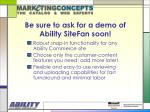 be sure to ask for a demo of ability sitefan soon