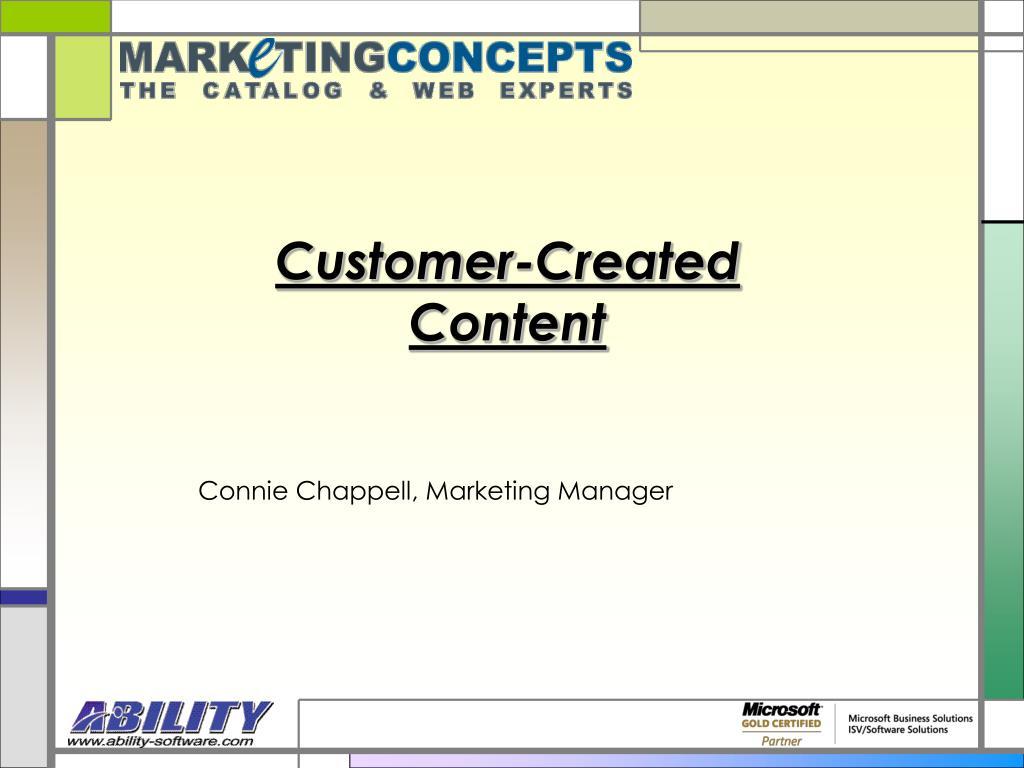 customer created content l.