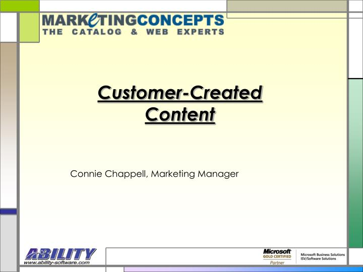 customer created content n.