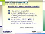 why do you need customer content