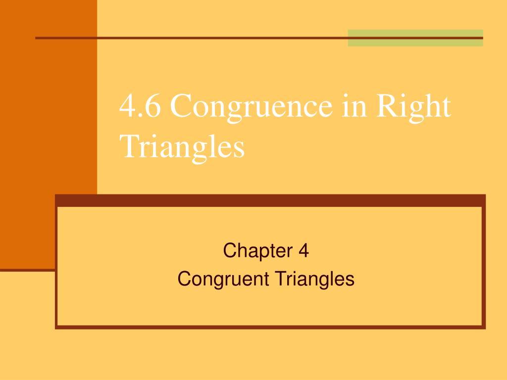 4 6 congruence in right triangles l.