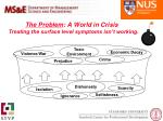 the problem a world in crisis