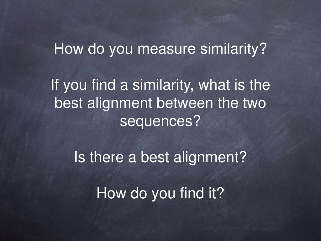 How do you measure similarity?