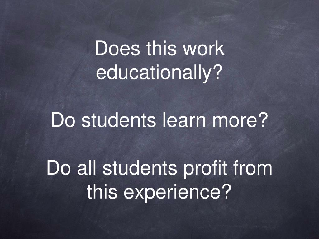 Does this work educationally?