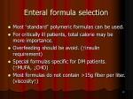 enteral formula selection