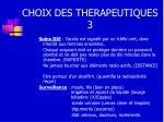 choix des therapeutiques 3