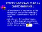 effets indesirables de la chimiotherapie 1
