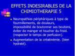 effets indesirables de la chimiotherapie 5