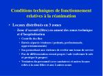 conditions techniques de fonctionnement relatives la r animation