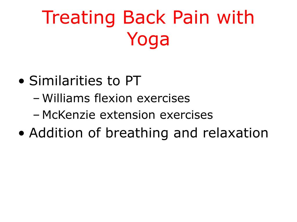 Treating Back Pain with Yoga