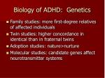 biology of adhd genetics