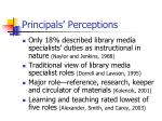 principals perceptions