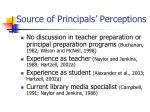 source of principals perceptions