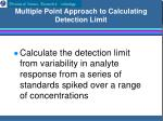 multiple point approach to calculating detection limit