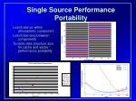 single source performance portability
