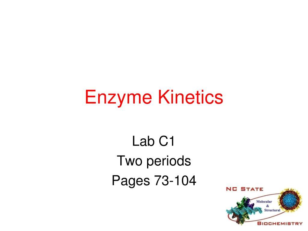 enzyme kinetics l.