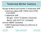 tenderness marker summary