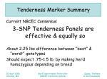 tenderness marker summary12