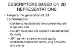 descriptors based on 3d representations