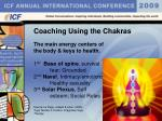 coaching using the chakras