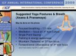 suggested yoga postures breath asana pranamaya