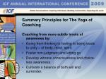 summary principles for the yoga of coaching