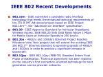 ieee 802 recent developments