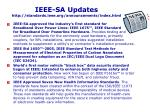 ieee sa updates http standards ieee org announcements index html
