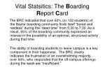 vital statsitics the b oarding r eport c ard