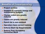 benefits of commissioning