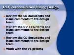 cxa responsibities during design