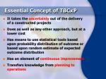 essential concept of tbcxp