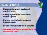 goals of tbcxp
