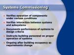 systems commissioning