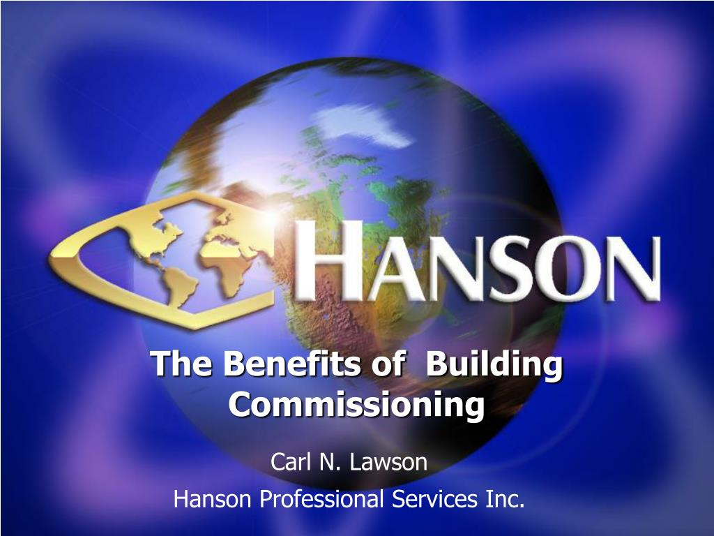the benefits of building commissioning l.