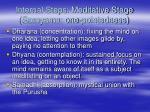 internal steps meditative stage samyama one pointedness