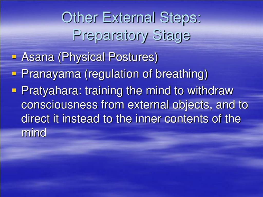 Other External Steps: