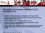 principles of coronary calcium cac scoring by ct