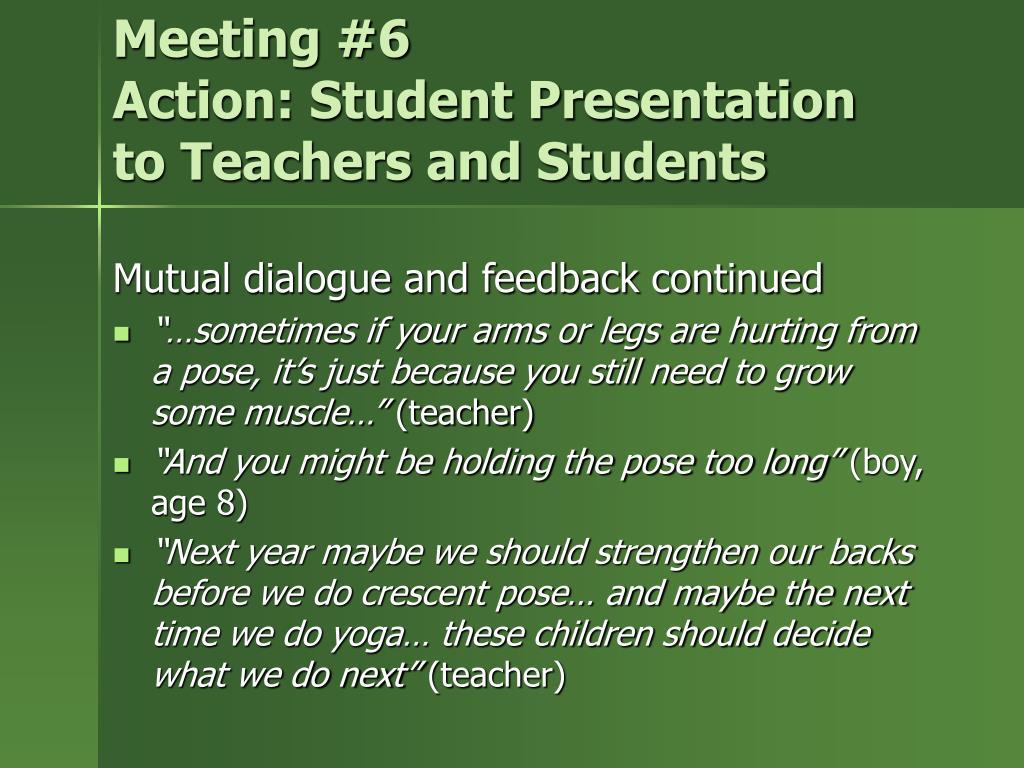 Meeting #6